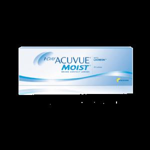 Однодневные контактные линзы Акувью Моист 1-DAY Acuvue Moist оптика Зрение спб
