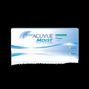 Однодневные контактные линзы Акувью Моист мультифокальные 1-DAY Acuvue Moist MULTIFOCAL оптика Зрение спб