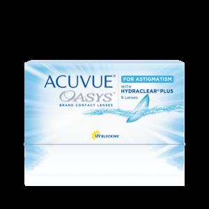 Контактные линзы Акувью Оазис астигматизм Acuvue Oasys for Astigmatism с технологией HYDRACLEAR PLUS оптика Зрение спб