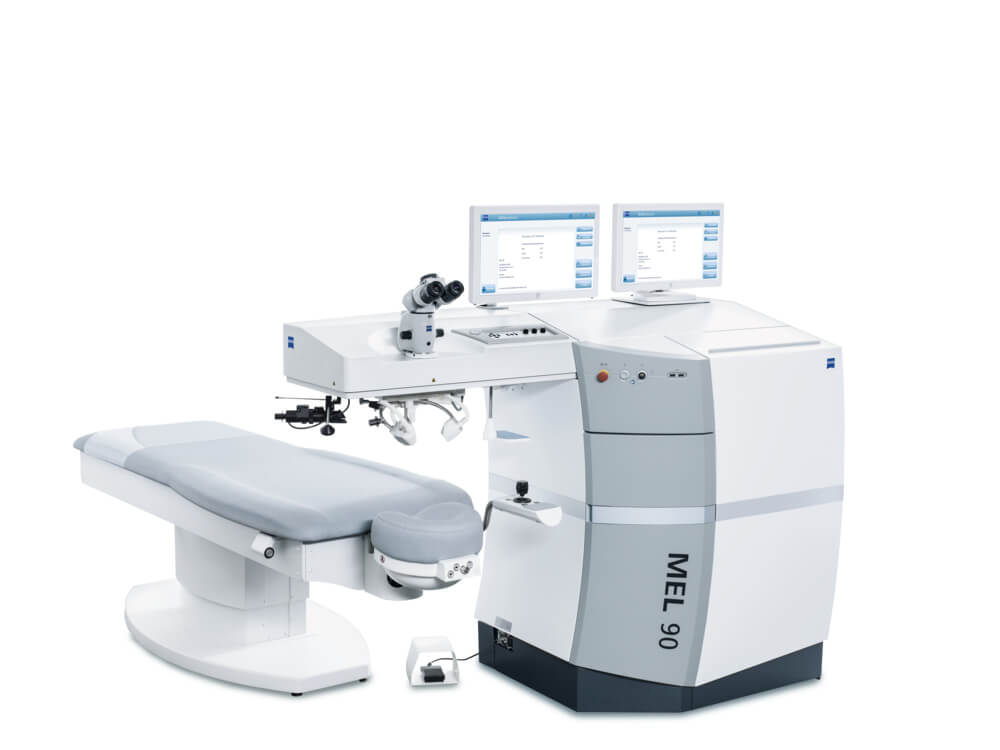 Эксимерный лазер Zeiss Mel90 для лазерной коррекции зрения ФРК и ФемтоЛасик в Санкт-Петербурге офтальмологический центр Зрение
