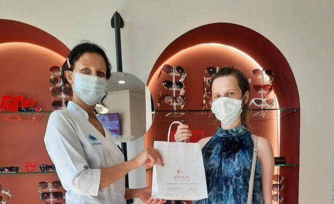 """Подобрали очки для подопечной благотворительного фонда """"Гуманитарное действие"""" клиника Зрение"""